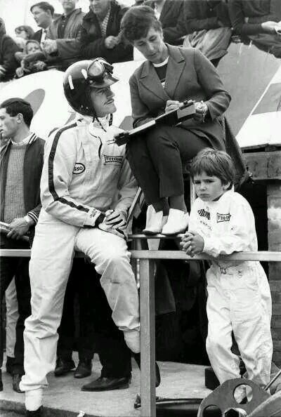 Mr & Mrs Graham Hill and son