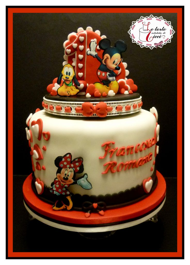 Minnie and Micke mouse's cake