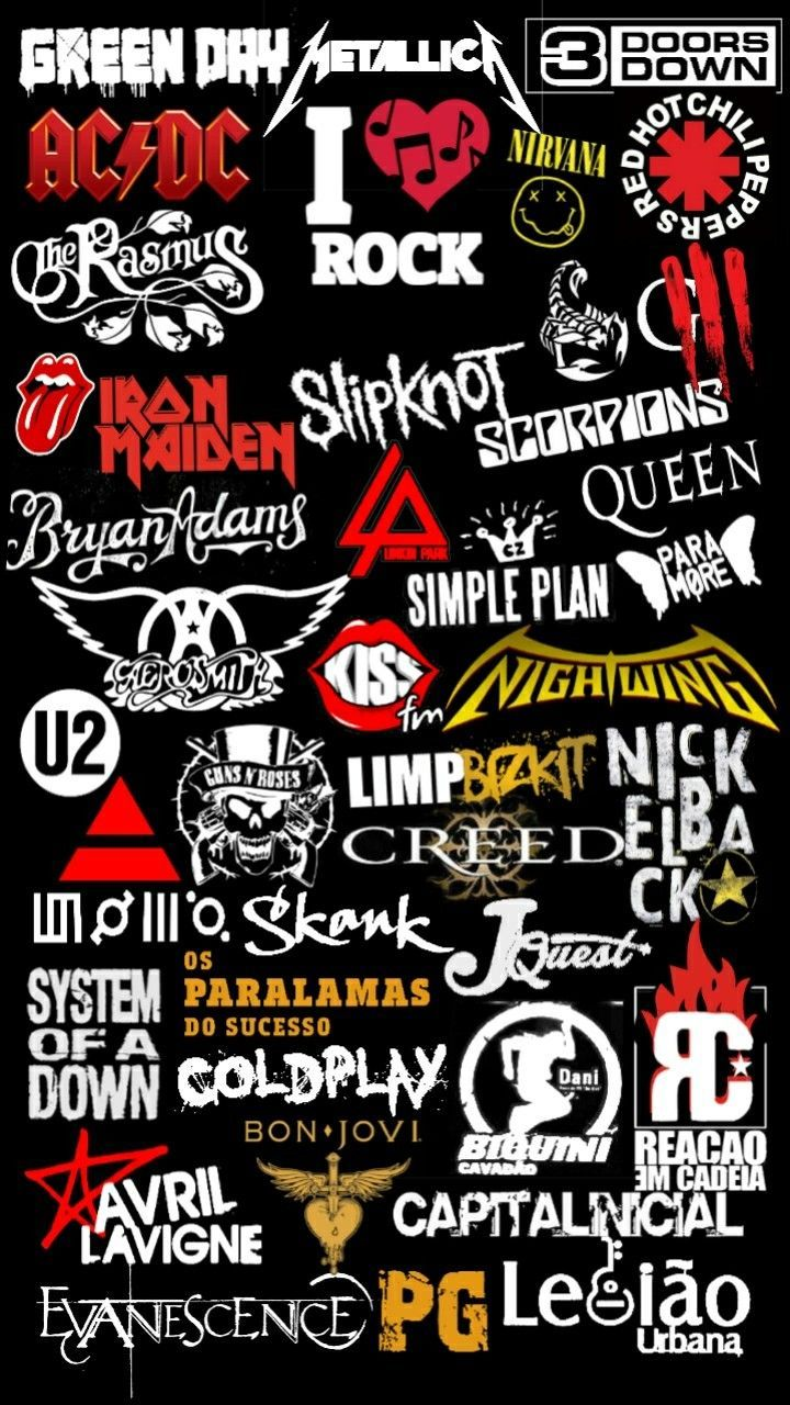 Pin By Sam S Ni Vana Dream Big On Stickers In 2020 Band Wallpapers Emo Wallpaper Rock Band Logos