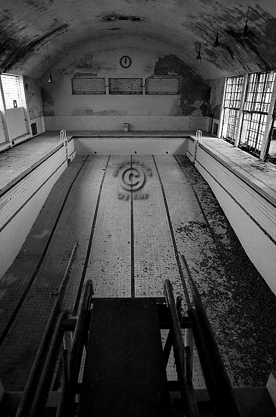 Olympic Village Berlin Elbtal - covered swimming pool Germany and Hitler's 1936 Olympic Swimming Pool