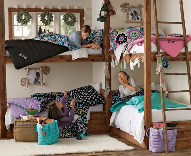 great idea for cabin bedroom    I want to have 4 kids, just so I can make this in their room! HaHa :)