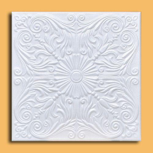 50 PC Lot of Astana White Styrofoam Ceiling Tile Easy Instalation Glue Up | eBay