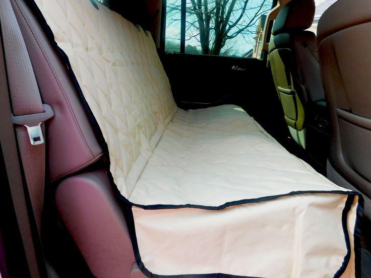 Plush Paws Products® Pet Car Seat Cover - Regular Size Tan