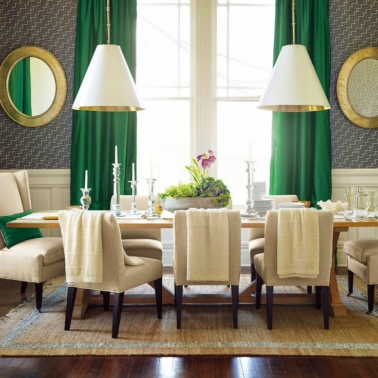 Best 25 emerald green rooms ideas on pinterest green home furniture forest green color and - Green dining room furniture ideas ...