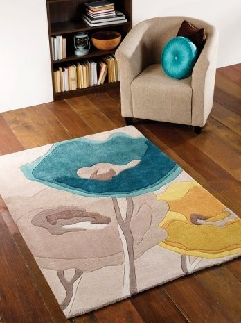 Teal And Yellow Area Rug