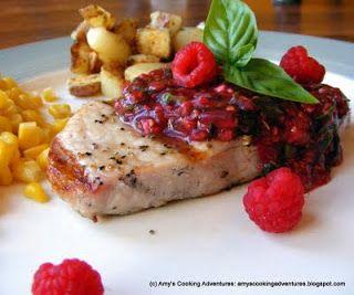 Spicy Raspberry Sauce for Pork Chops   Yummm...   Pinterest