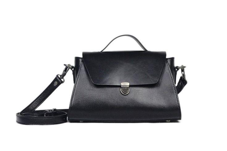 hanae leather day satchel bag