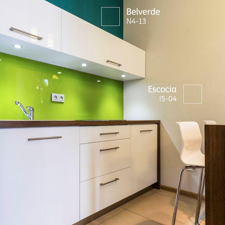 Dale m s vida a tu cocina jugando con los colores de los - Pintura para muebles de cocina ...