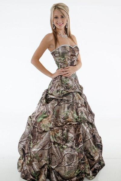 Wholesale 2015 Camo Prom Dress Sweetheart Lace up Back Long Floor Length Satin Ball Gown Forest Camouflage Bridal Evening Prom Gowns, Free shipping, $187.44/Piece | DHgate Mobile