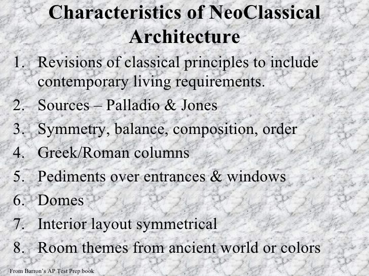 Neoclassical Architecture Characteristics Google Search