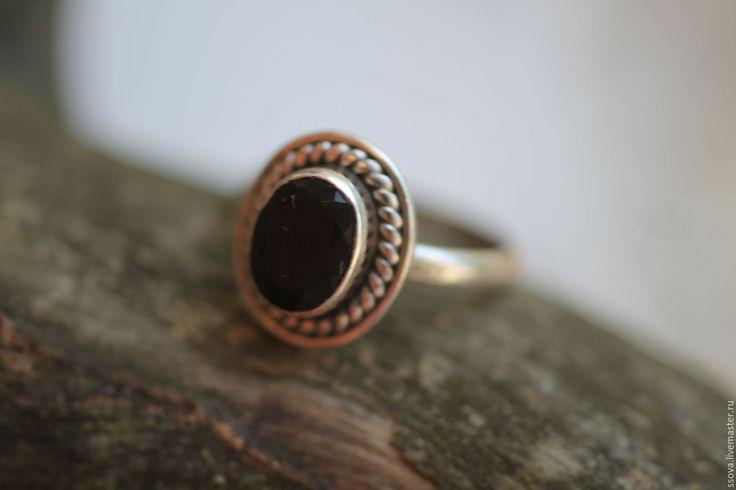 Купить 16.2 черная шпинель кольцо серебряное с - Серебрянное кольцо, кольцо с камнем