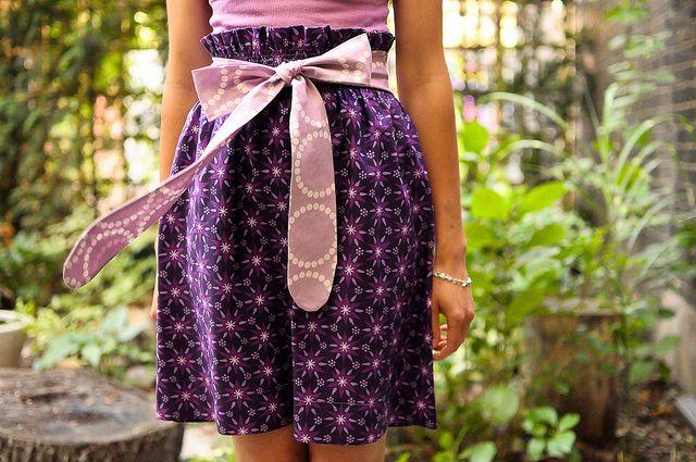 DIY: bow skirt
