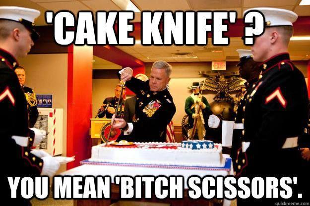 Who Cuts Cake Marine Corp Ball