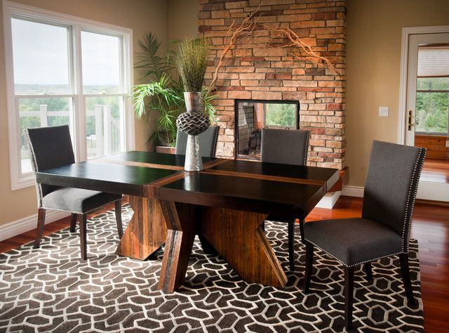 Best 25 Modern Rustic Dining Table Ideas On Pinterest  Brick Brilliant Nice Dining Room Tables Review