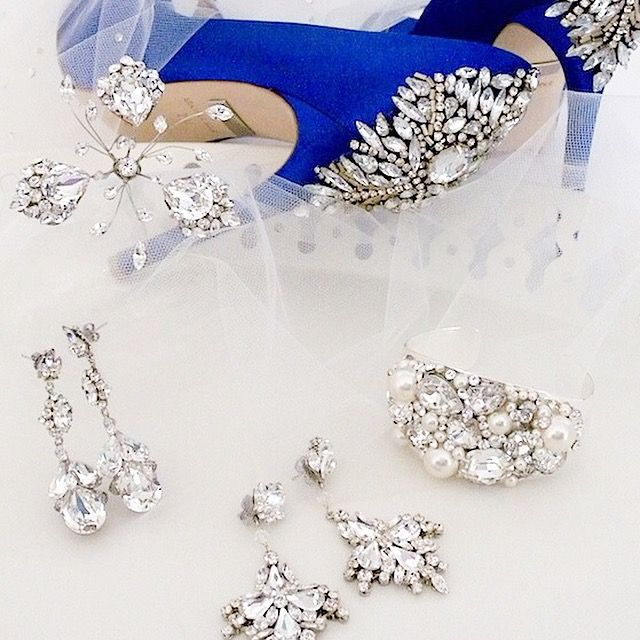 Bridal Jewelry, Shoes, Accessories. Are these your bridal accessories? Badgley Mischka shoes, Erin Cole & Cheryl King Couture bridal jewelry & hair accessories. Find it: https://perfectdetails.com