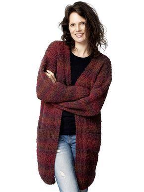 44a0230a Strikkeopskrift på en varm og hyggelig cardigan, strikket i garn, der  skifter nuance af