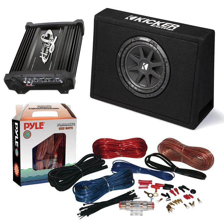 "17 best ideas about kicker car audio kenwood car car subwoofer and amp combo kicker 10tc104 comp 10"" 300w audio subwoofer bundle"