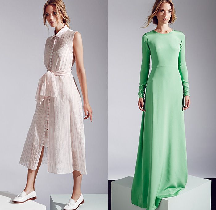 Novis NYC 2015 Resort Womens Lookbook Presentation - 2015 Cruise Pre Spring Fashion Pre Collection Designer Jordana Warmflash - Pop Art White Jumpsuit Onesie Maxi Pinafore Dress Sequins Shirtdress Ribbon Tie Up Sash Belt Waist Multi-Panel Mix Match Patterns Stripes Outerwear Coat Wide Leg Trousers Palazzo Pants Shorts Sweater Jumper Skirt Frock Cardigan Weave Button Down Shirt Blouse Geometric Boxy Cutout Side Hem