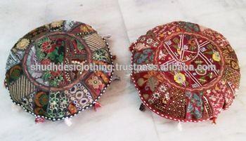 khambadiya vintage fabric floor cushion / sofa seat cushions / indian handmade ottoman