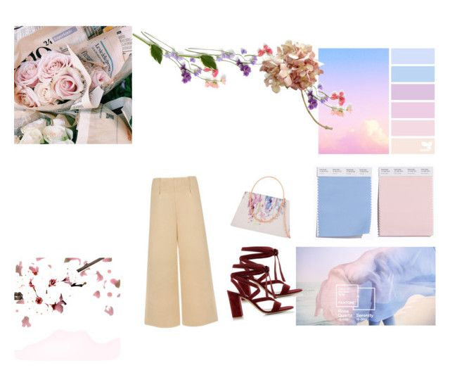 """baby pink and blue"" by ivanaputri on Polyvore featuring Gianvito Rossi, C/MEO COLLECTIVE and Ted Baker"