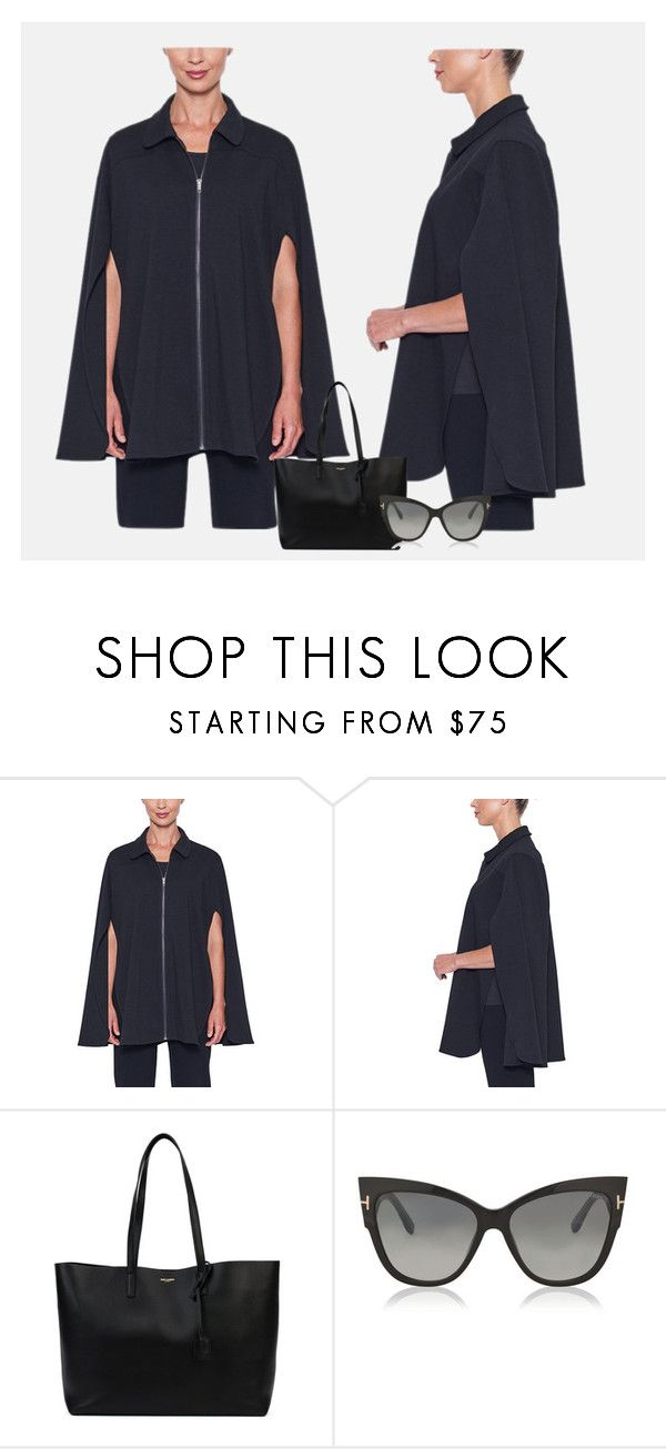 """Celebrity Style Cape"" by wardrobefashionperth on Polyvore featuring Yves Saint Laurent and Tom Ford"