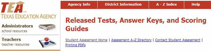 Texas Education Agency offers free printable tests and online tests for grades 9-12 - these are older versions of TAKS tests