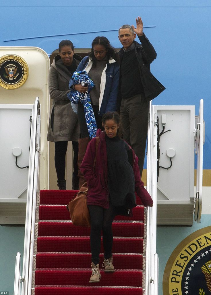 The First Family's Hawaiian vacation has come to an end as they touched down at Andrews Ai...