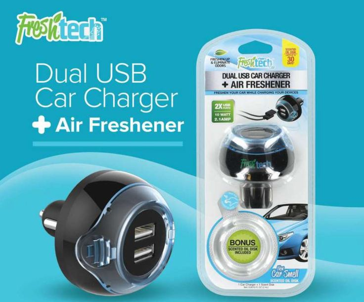 Give the Gift of Freshness - the FreshTech Dual USB Charger charges devices & freshens your car http://freshtechusa.com/ #LastMinuteGifts