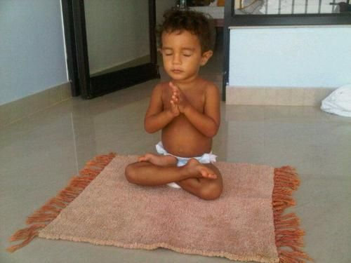 baby meditates