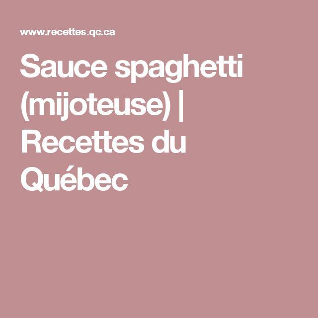 Sauce spaghetti (mijoteuse) | Recettes du Québec