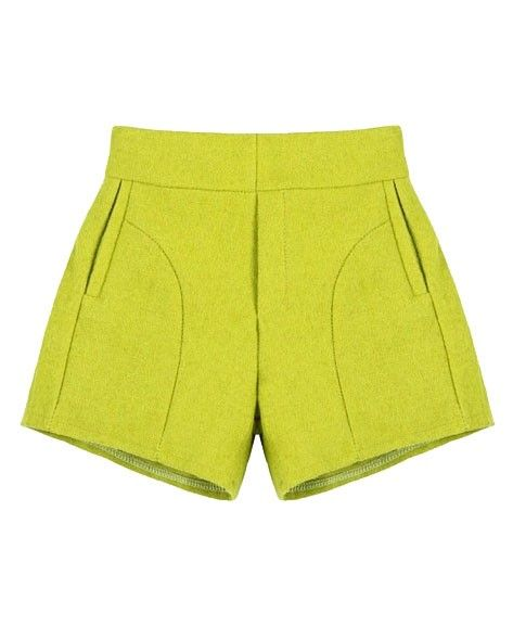 High Waist Pure Color Shorts