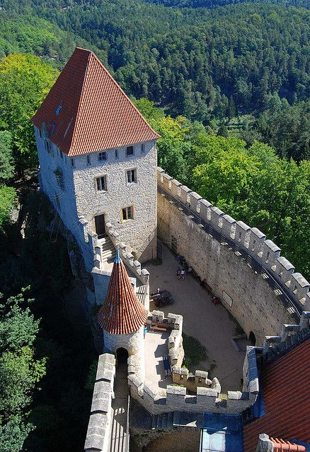 Towers of Kokorin Castle, Czech Republic | photo researched by http://www.iconhotel.eu/en/contact/how-to-find-us