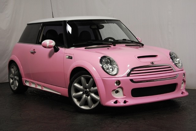 Pink Mini Cooper shiny cute pink n sparkly, gotta get my drivers n drive safe n save alot of money within these 2yrs!
