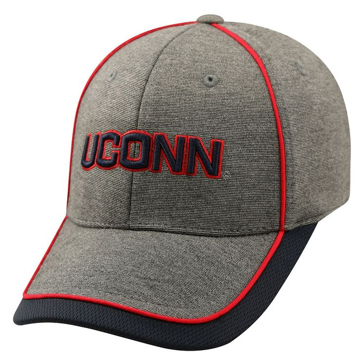 Adult Top of the World UConn Huskies Memory Fit Cap, Men's, Med Grey