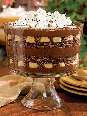 chocolate banana trifle ...i think this is what heaven looks like