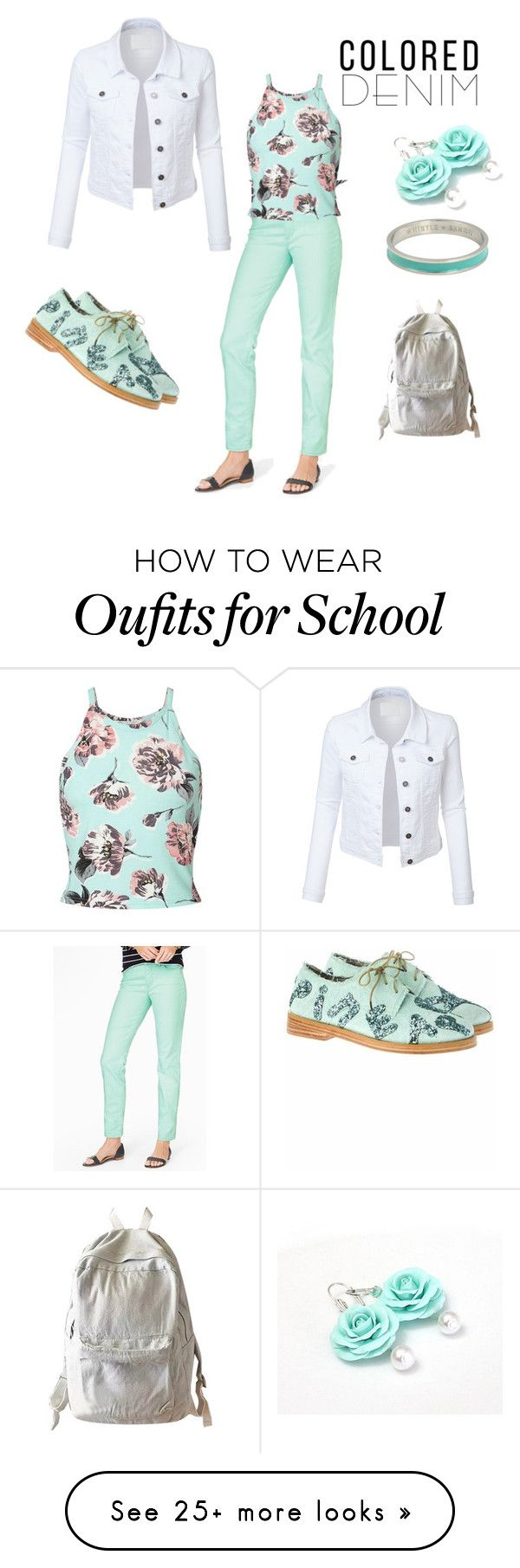 """""""Mint Denim"""" by siriusfunbysheila1954 on Polyvore featuring Talbots, Miss Selfridge, LE3NO, Anouki, WithChic and Whistle & Bango"""