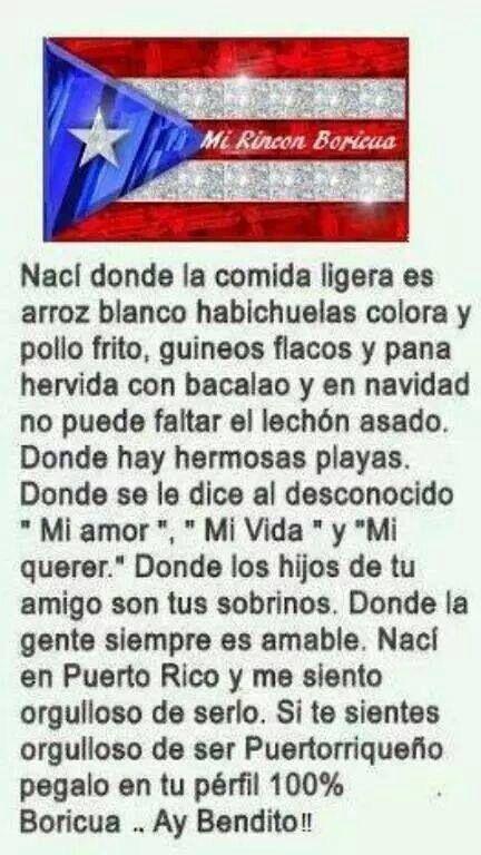 Puerto Rico...no yo no soy de Puerto Rico,  pero mi corazón lo anhela.