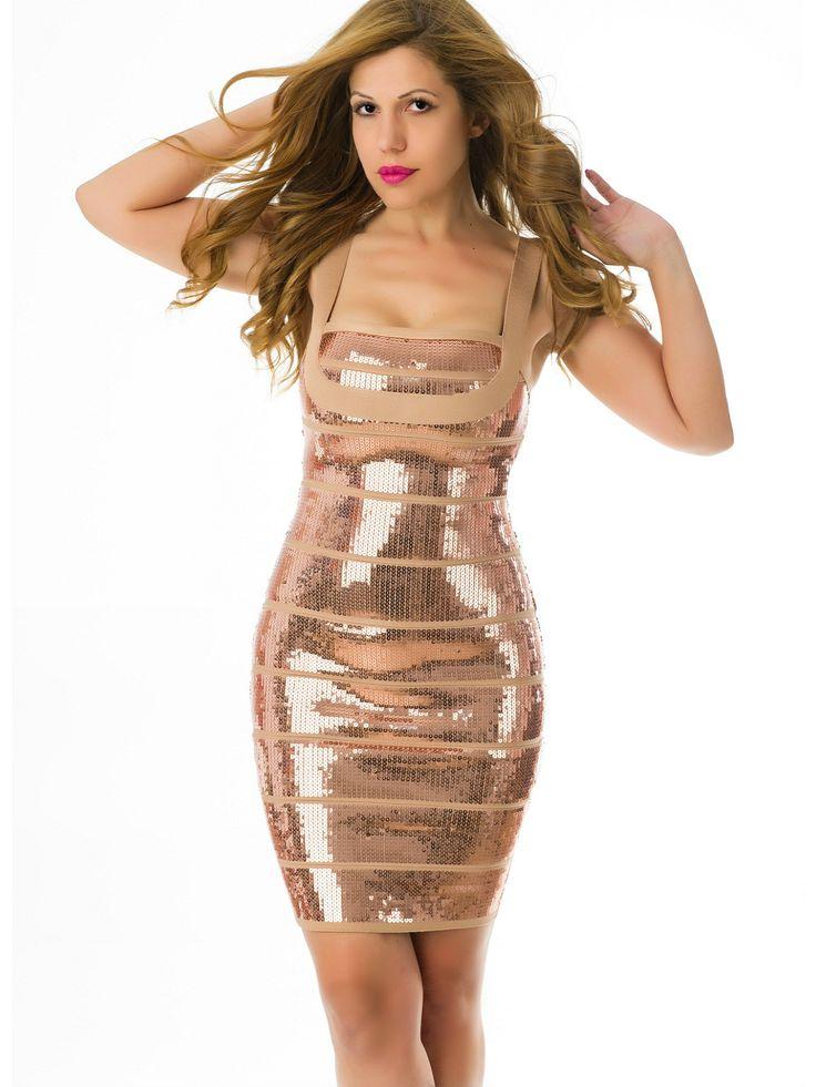 Vestido Bandage con Lentejuelas VB245