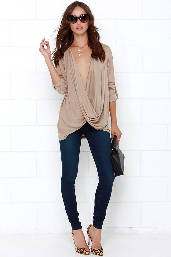 This Is Twist Beige Long Sleeve Top at Lulus.com!