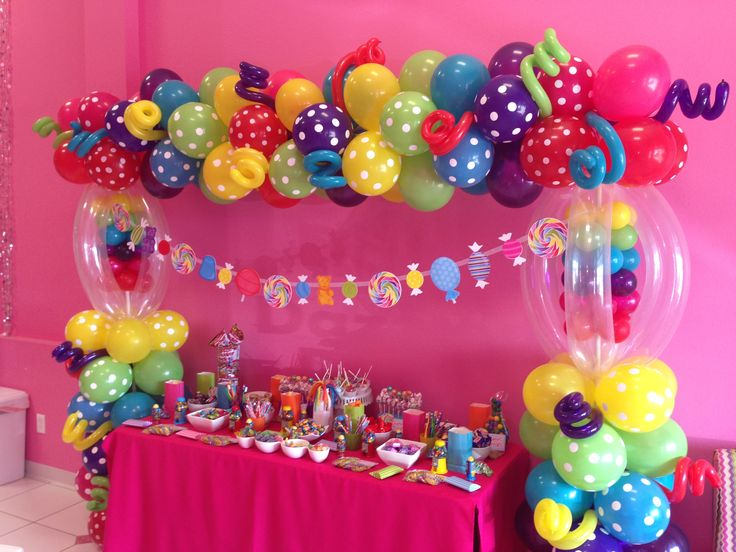 Candyland candy table candy land sweet 16 pinterest candy table candyland and candy - Candyland party table decorations ...