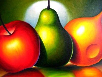 cuadros de frutas para comedor bellisimo