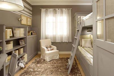 Foto: Dolci sogni per i bimbi in questa cameretta con letto a castello.  Sweet dreams for children in this bedroom with a bunk bed.