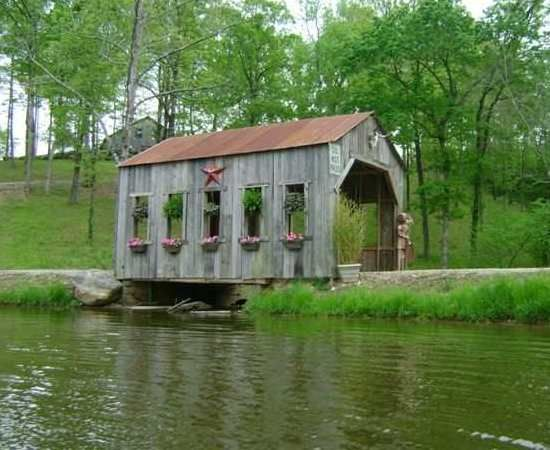 Moore covered bridge - 3 miles east of Glenwood on Hwy 70 - Montgomery Co., AR