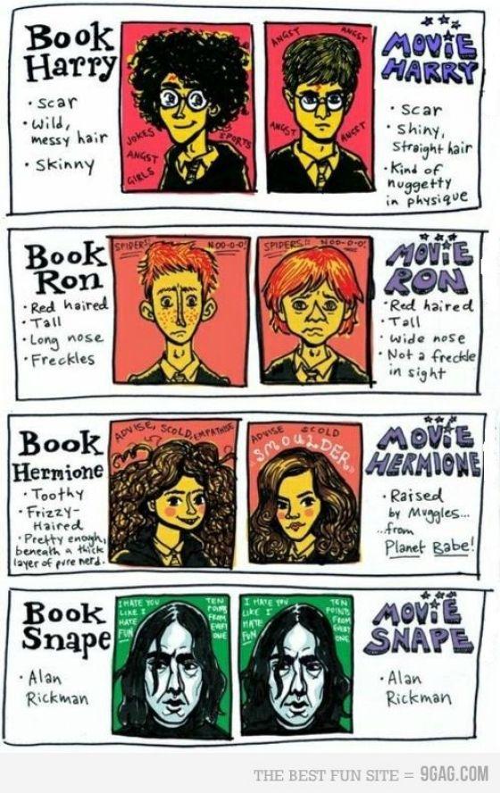 HP books vs. movies.  so true