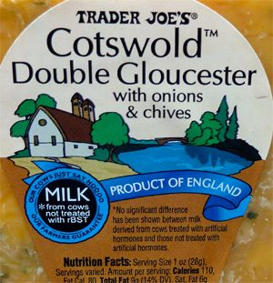 I think this is my new favorite cheese! Cotswold Double Gloucester Cheese with Onions ...