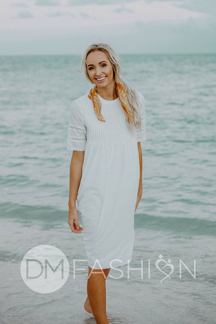 White Beach Dresses for Juniors
