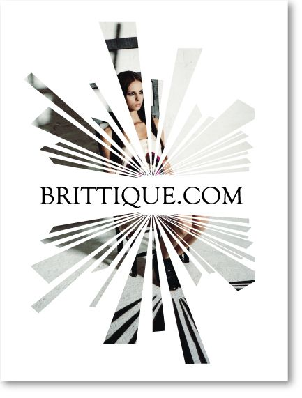 Illustration and design of a set of posters for fashion boutique Brittique.