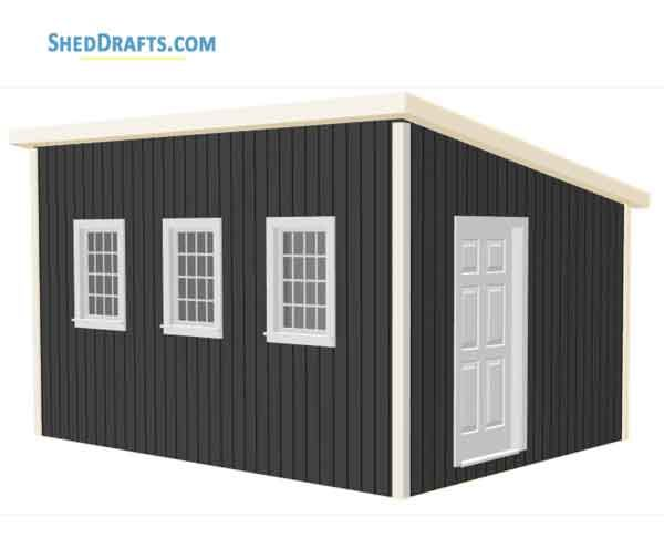 12 16 Wooden Lean To Shed Plans Blueprints To Create Backyard Structure Lean To Shed Plans Shed Plans Backyard Structures