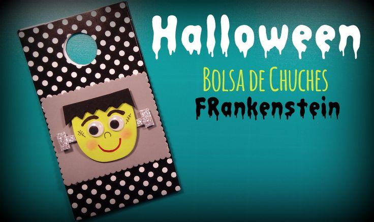 Halloween. Bolsa de chuches de Frankenstein - http://www.manualidadeson.com/halloween-bolsas-de-chuches-frankenstein.html