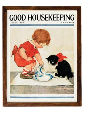 Vintage Cover Art - This collection of vintage Good Housekeeping cover art is beautifully reproduced on the finest watercolor paper using giclee printing for an unsurpassed vibrancy and depth.